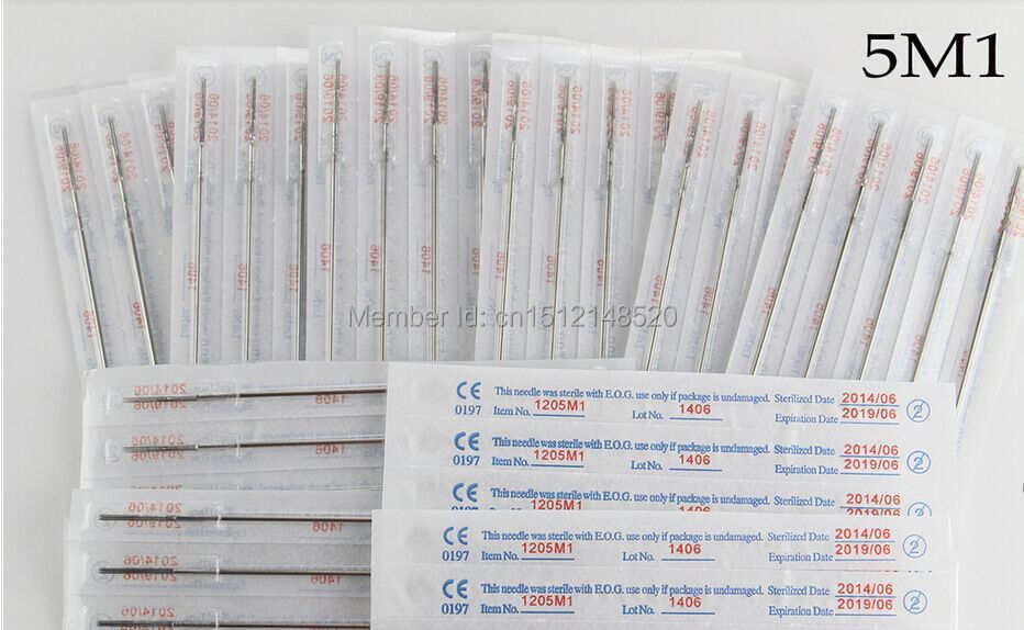5M1 High quality Sterilized Tattoo Needles 150pcs/Set + Free Shipping(China (Mainland))