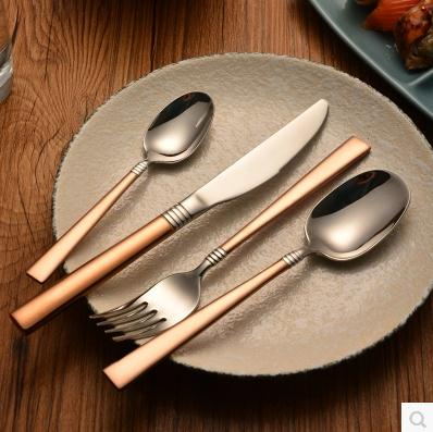 Buy Western Style Top Material Stainless Steel  Knife And Fork Spoon Strong Eco-Friendly Fashionable Tableware Set cheap