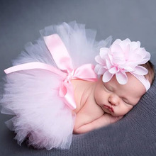 Princess Newborn Tutu and Vintage Headband Newborn Baby Photography Prop Birthday Sets For Baby Girls 1set TS001