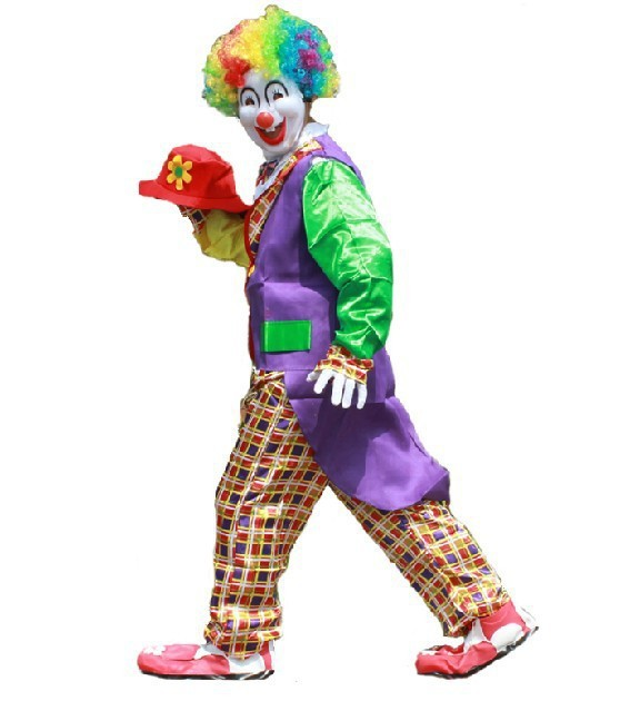 Горячие Продажи Забавный Клоун Костюм ман Клоун Косплей Костюм в более низкая Цена ...