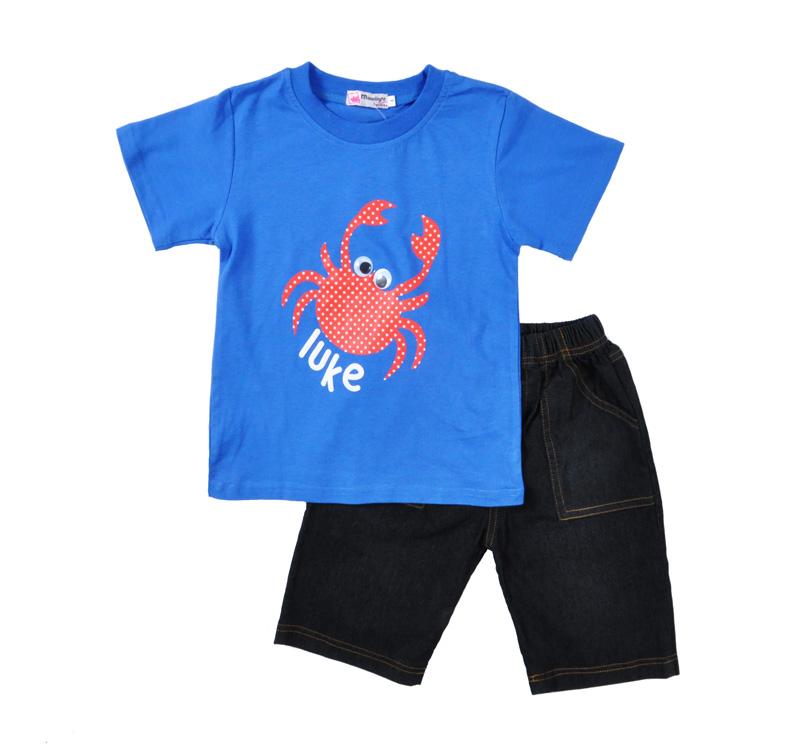 Retail children 39 s suit 2015 new boy clothing set kids blue for Dark denim toddler shirt