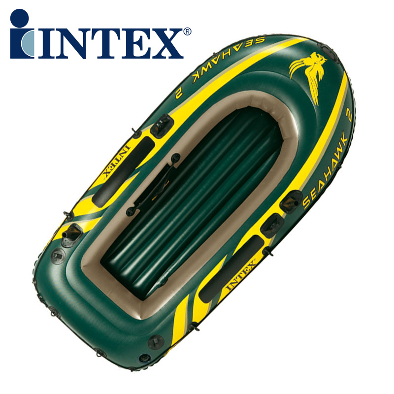 Genuine INTEX68345 1 persons Kayak inflatable rowing boat fishing boat thickening with Paddles and Air pump(China (Mainland))