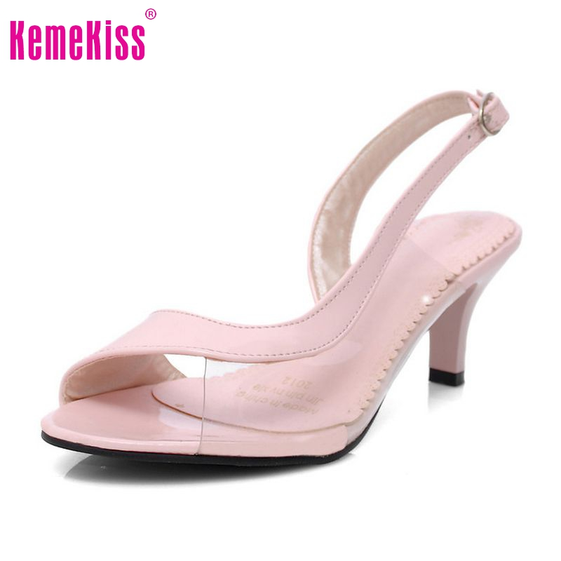 high heel sandals peep open toe shoes jelly