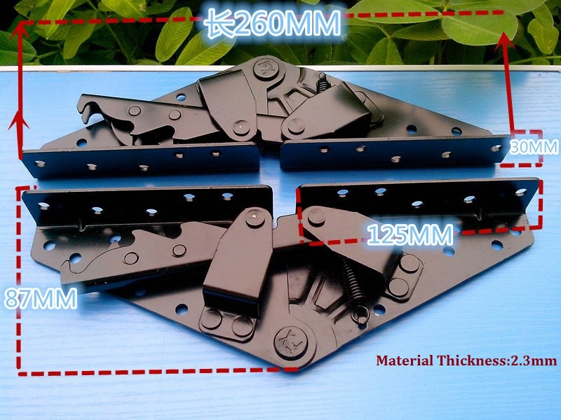 1Pair(2 PCS)/LOT Sofa Bed Bedding Furniture Adjustable 3-Position Angle Big Mechanism Hinge Hardware(China (Mainland))