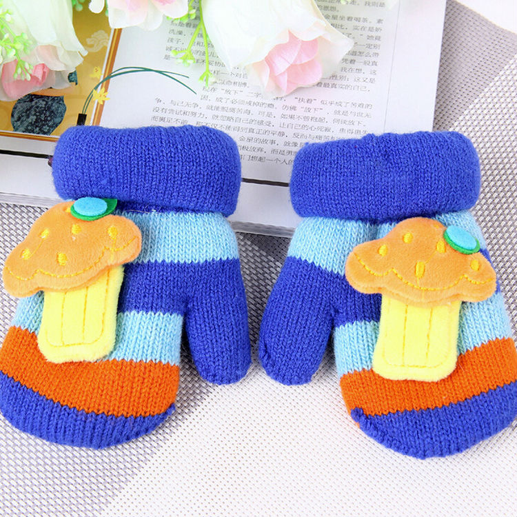 16*10CM New Style Baby Winter Gloves Infant Toddler Warm Pure Sound Gloves Anti-lost Connection Boy Girls Magic Glove Top Sell(China (Mainland))