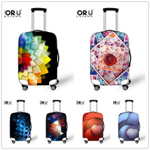 New 3D Stylish Travel Luggage Suitcase Cover Elastic Stretch Cover For 18 20 22 24 26 28 30 Inch Case Dustproof Protect Cover(China (Mainland))