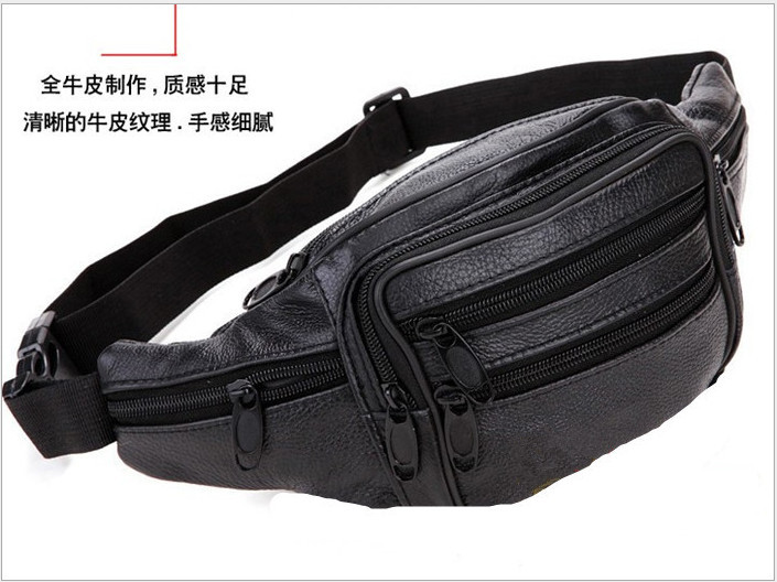 Free Shipping New Star Men Genuine Leather Waist Pack Cowhide Travel Outside Sport Casual Messenger Bag Shoulder Bag(China (Mainland))
