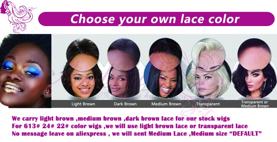 Free Shipping Brazilian virgin Human Hair Glueless Full Lace Wigs bleach knots wavy human Hair Lace front wigs for black women