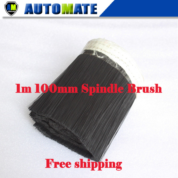 1m 100mm Brush Vacuum Cleaner Engraving machine Dust Cover for spindle motor free shipping(China (Mainland))