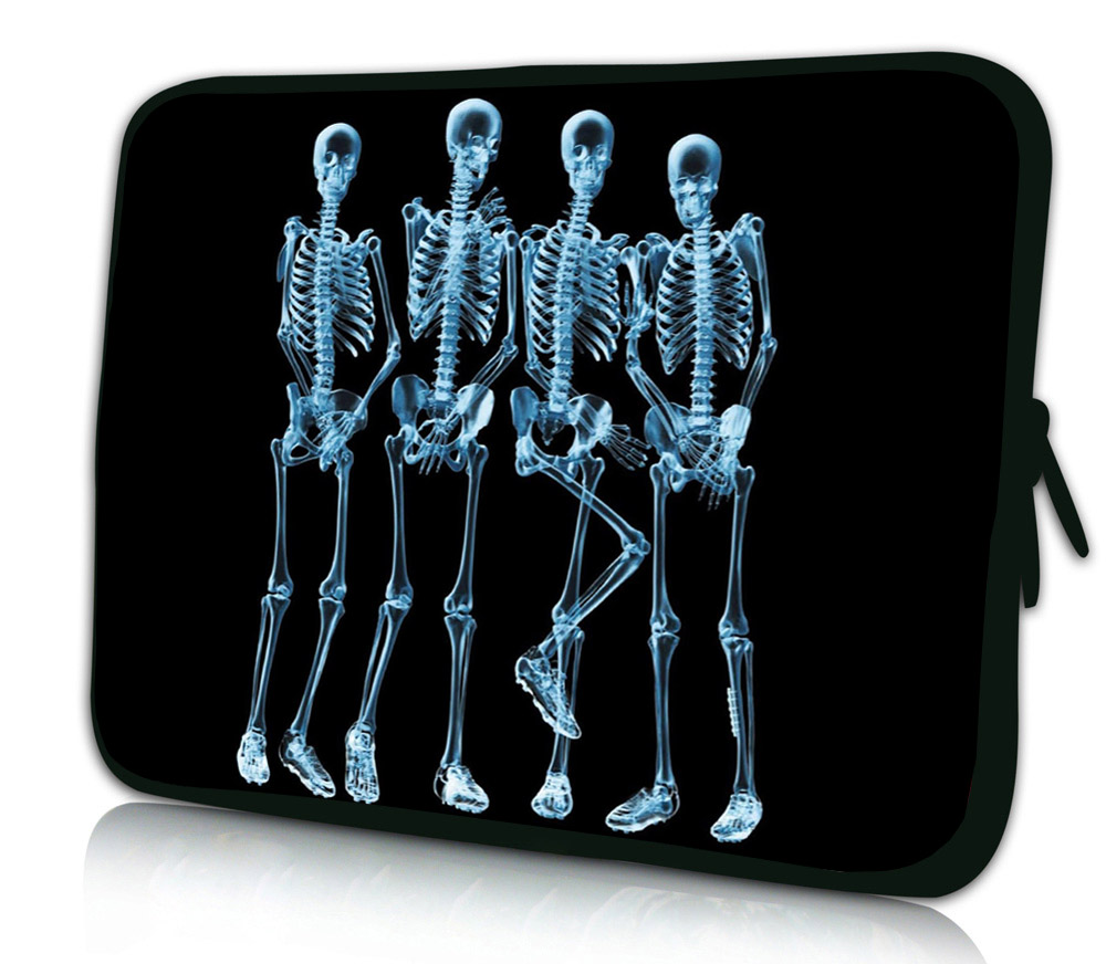 """4 Skulls Notebook Laptop Pouch Case Cover Bags For Acer Samsung Lenovo Apple 14.1"""" Mini Computer Inner Pouch Bag For Men & Boys(China (Mainland))"""