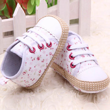 Lovely 0 12M Baby Kid Girl Crib Shoes Toddler Soft Sole Sneakers Prewalker Free Shipping