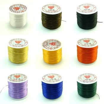 60M/Roll 1MM Colorful Stretchy Elastic Rope Cord Crystal String For Jewelry Making Beading Bracelet Wire Fishing Thread Rope