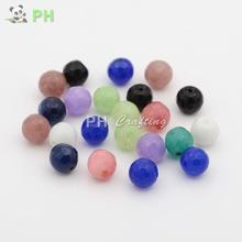 Natural Jade Bead Strands, Dyed, Faceted, Round, Mixed Color, 10mm; Hole: 1mm - Findings & Gems store
