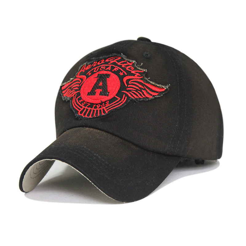 Washed cotton Angel Wing baseball cap Perfect wings embroidery hat new brand snapback caps for male female autumn and winter(China (Mainland))