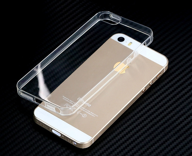 For iPhone 5S Soft Clear Cases 0.6MM Super Slim TPU Gel Silicon Phone Case For iPhone 5 5S 5G Ultra Thin Transparent Cover Bags(China (Mainland))
