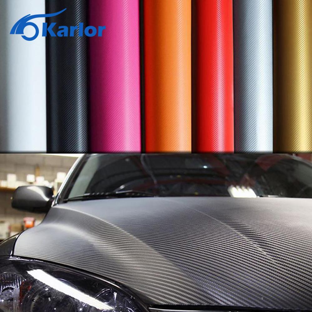 Car carbon sticker design - 200cm 30cm 3d Carbon Fiber Vinyl Film 3m Car Stickers Waterproof Diy Motorcycle Automobiles Car