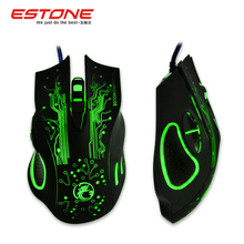 New 2015 Estone x9 2400DPI LED Optical 6D USB Wired game Gaming Mouse gamer For PC computer Laptop perfect upgrade combine x5 x7