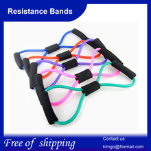 2pcs/lot Fitness Resistance Bands Exercise Tubes Practical Elastic Training Rope Yoga Pull Rope Pilates Workout Cordages