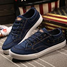 New 2016 Wholesale Hot Sale Spring Fashion outdoor Men canvas denim shoes Casual Breathable Shoes flat board shoes 4 color L014