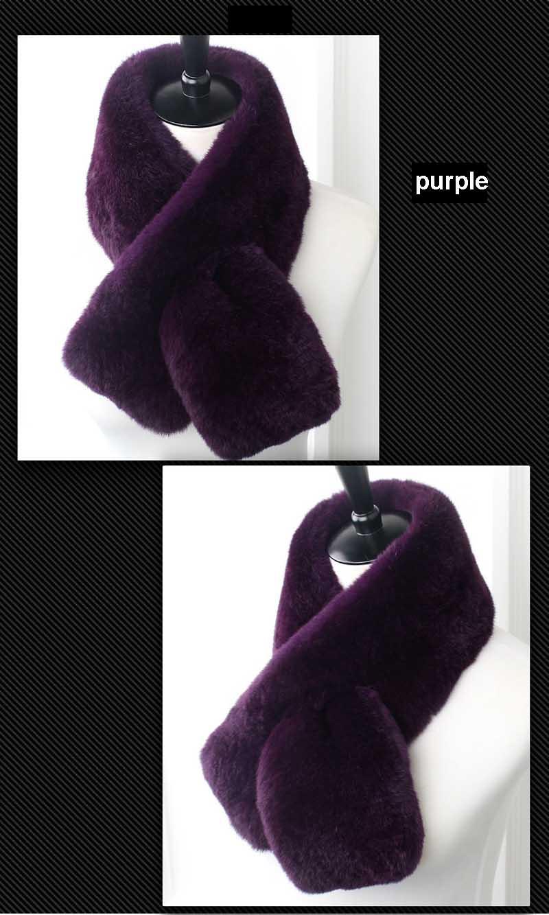 rex fur scarf purple 1