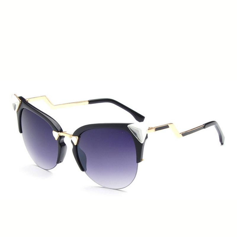 2015 new sunglass brand fishing cat eye triangular diamond for Fishing sunglasses brands