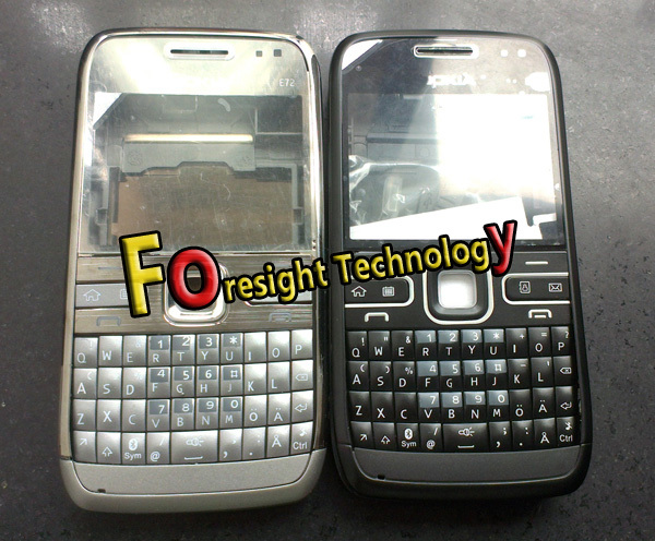 Drop shipping+1pc Black e72 keypad faceplates letters housing case for Nokia E72 mobile phone parts with logo(China (Mainland))