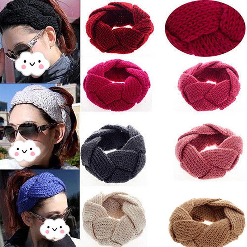 1 x Chic Women Hot Crochet Twist Knitted Head wrap Headband Winter Warmer Hair Band 6 Colors(China (Mainland))