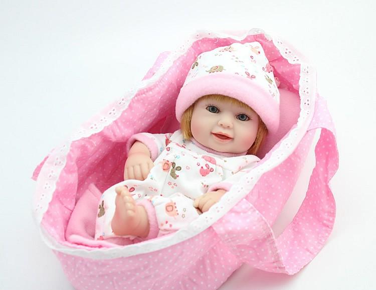 """Lifelike 10"""" Reborn Baby Full Vinyl Girl Doll Handmde Real"""