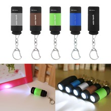 1pcs Portable Mini Keychain Pocket Torch USB Rechargeable Light Flashlight Lamp 0.5W 25Lm Multicolor Mini-Torch new arrival(China (Mainland))