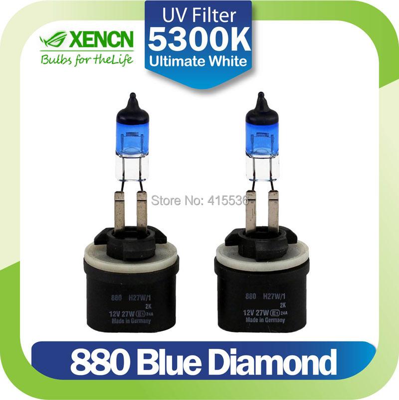 XENCN 880 H27W 12V 27W 5300K Blue Diamond Light Halogen Car Bulbs Replace Upgrade Fog Lamp for Nissan Hyundai Kia GMC Isuzu Ford(China (Mainland))