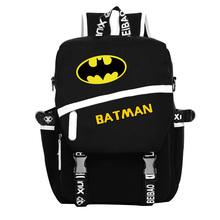 Free Shipping High Quality New Fashion Batman Backpack Boy Girl School Bags For Teenagers Sports Bag Canvas Backpacks