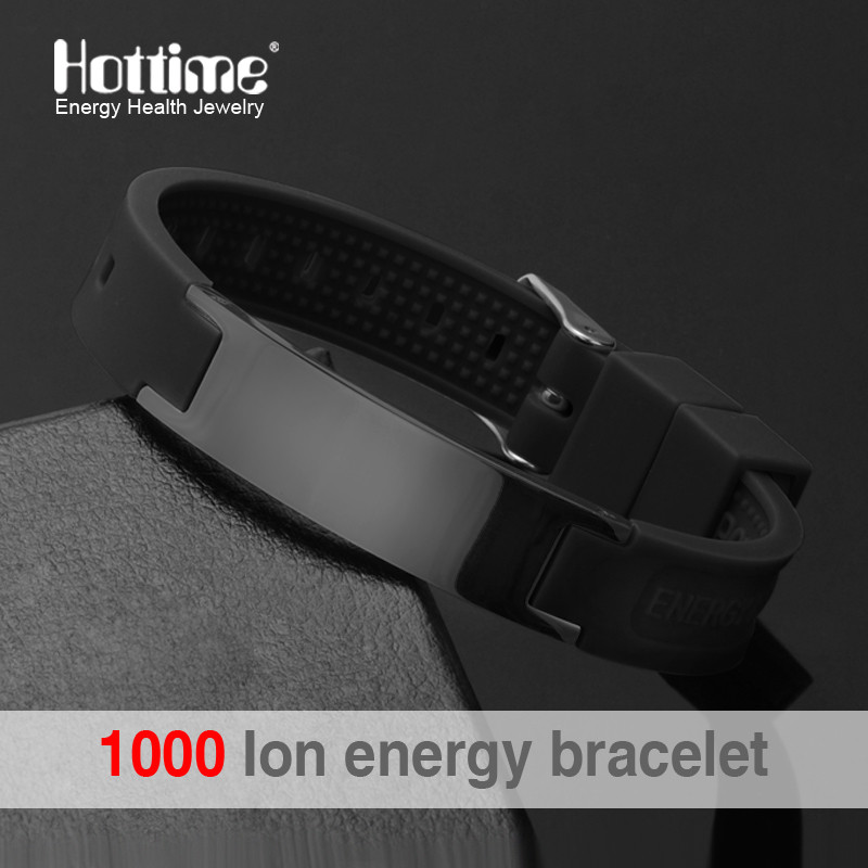 Power Energy Wristbands Balance Ion Magnetic Therapy Fashion Silicone Bands Bracelets Therapy Body Keep Your Healty Healing Pain(China (Mainland))