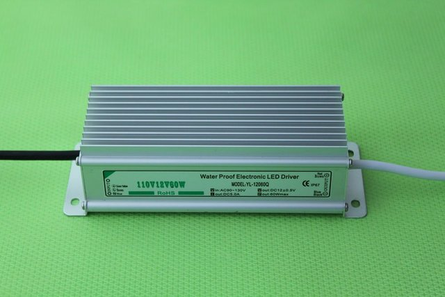 waterproof led power supply;AC90-250V input; 12V/60W output;IP68;CE and ROHS;