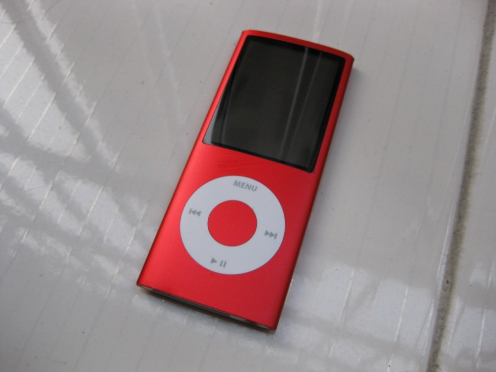 red for ipod nano 4 4th generation 16gb fm video mp3 music. Black Bedroom Furniture Sets. Home Design Ideas
