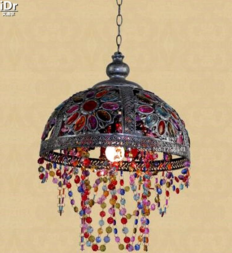 Купить Европейский ретро пастырской исследование спальня терраса ресторана светильник Подвесные Светильники wwy-0415