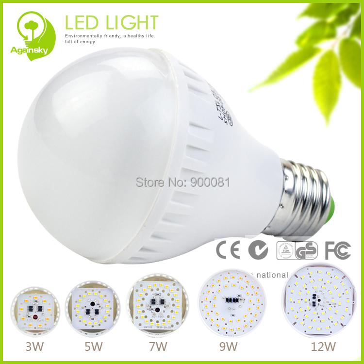 무료 배송 + 8 개/몫 2835smd LED 전구 AC220V 7 와트 차가운 흰색 ...