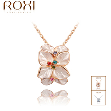 ROXI Delicate necklace  plated with AAA zircon,fashion  rose golden jewelry for women party,new 2013 style,gifts