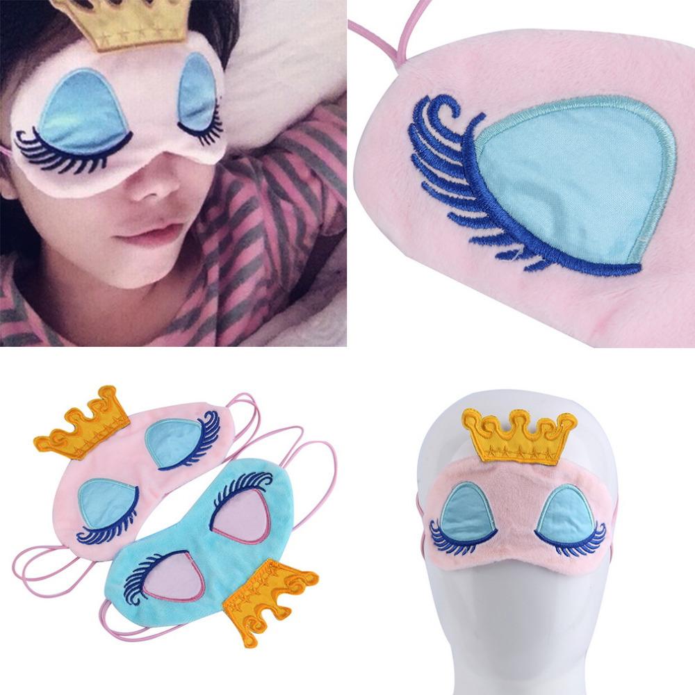 Гаджет  New Drop ShippingPrincess Crown Fantasy Eyes Cover Travel Sleeping Blindfold Shade Eye Mask None Красота и здоровье