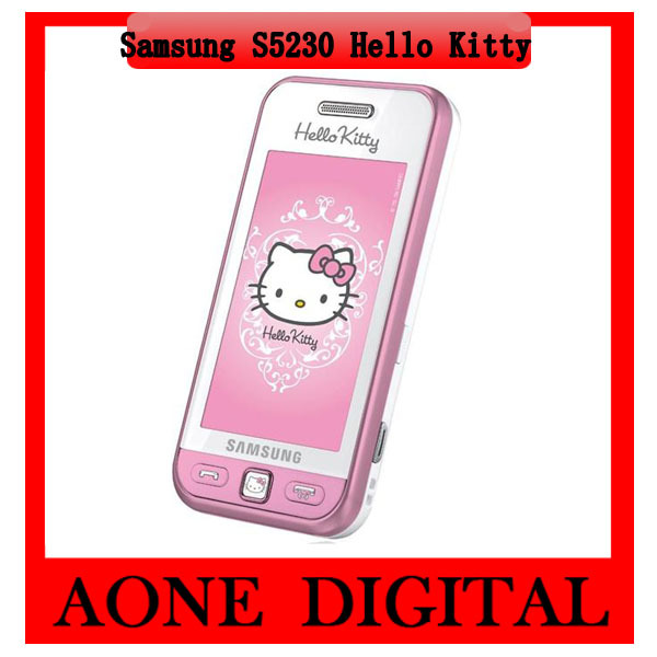 Samsung S5230 Hello Kitty Bluetooth cheap Mobile Phones Refurbished Free shipping(China (Mainland))