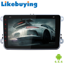 "1024*600 HD 8"" Quad Core 2 Din Android 4.4.4 Car DVD Automotivo For Volkswagen/VW polo/passat/golf 4 5 6/bora/touran/jetta/seat"