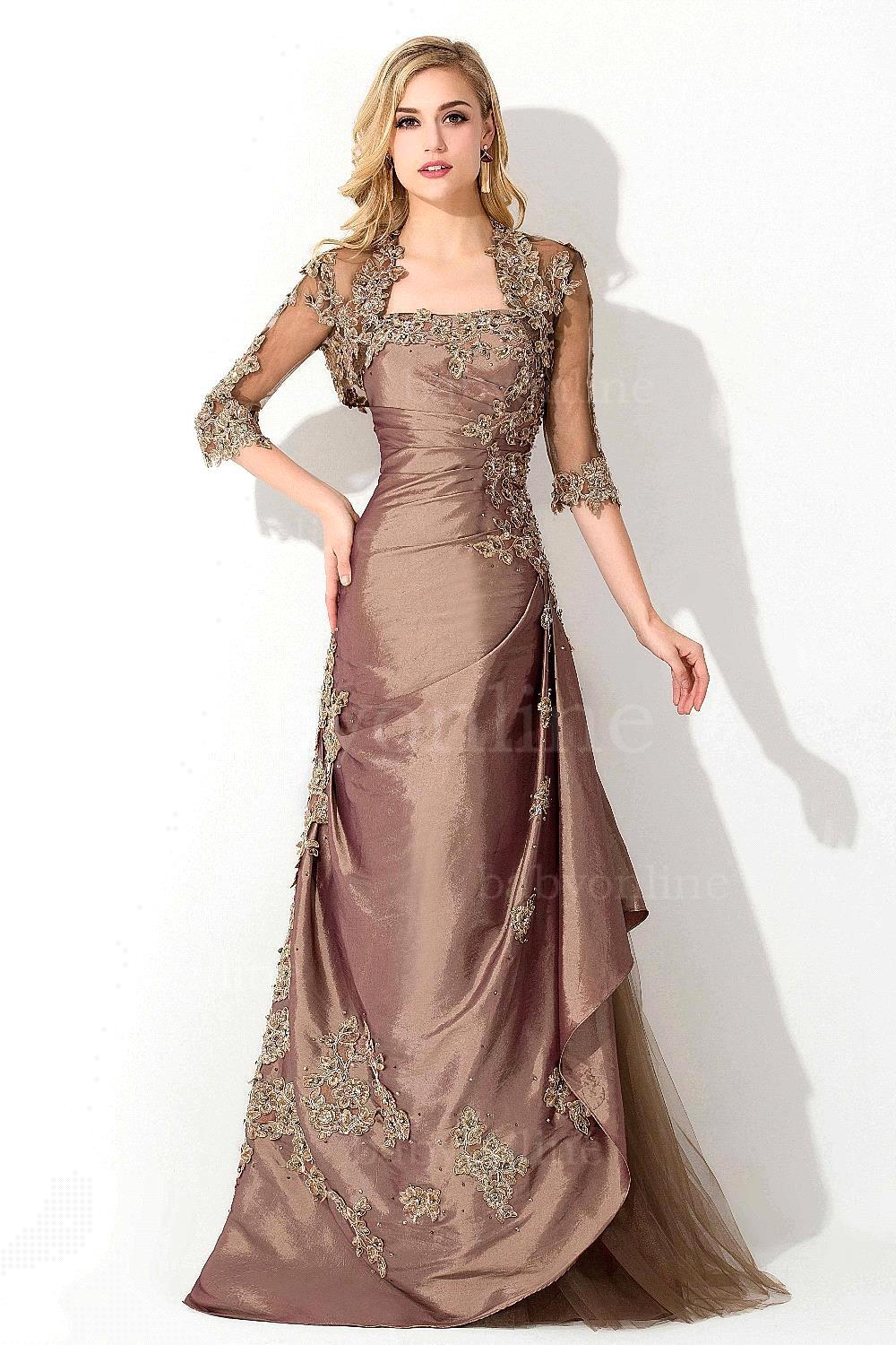 Plus Size Women Formal Evening Dresses With Jacket - Long Dresses ...