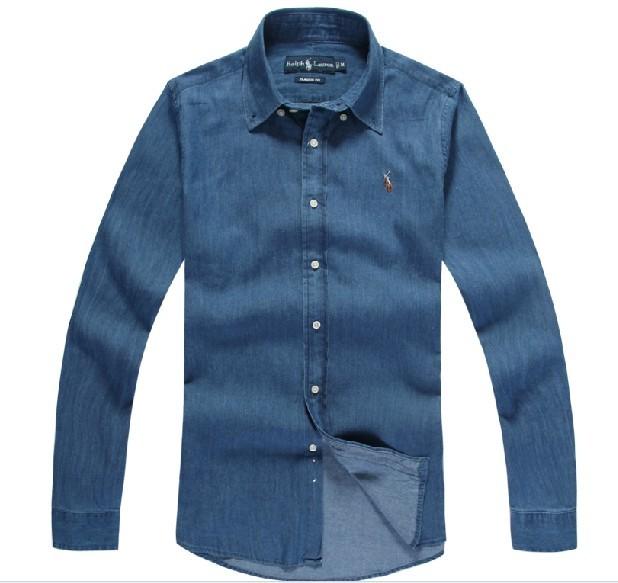 Paul shirt loose long-sleeve denim men's clothing autumn winter cotton casual plus size - Smiley's fashion shop store