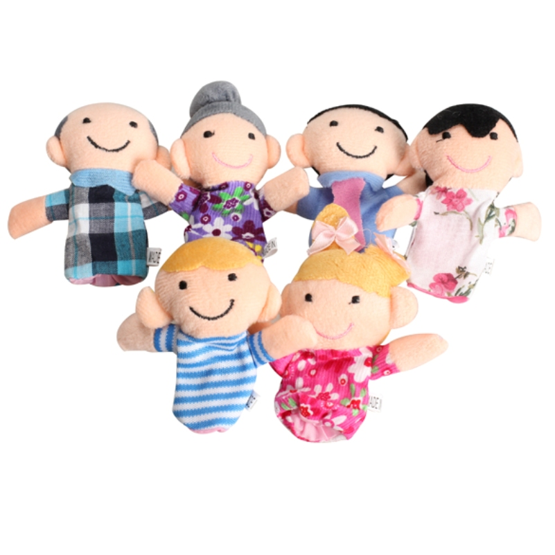 Гаджет  6Pcs Lovely Kids Baby Favor Plush Velour Hand Puppets Family Animals Learning&Education Aid Toys Story Telling FCI# None Игрушки и Хобби