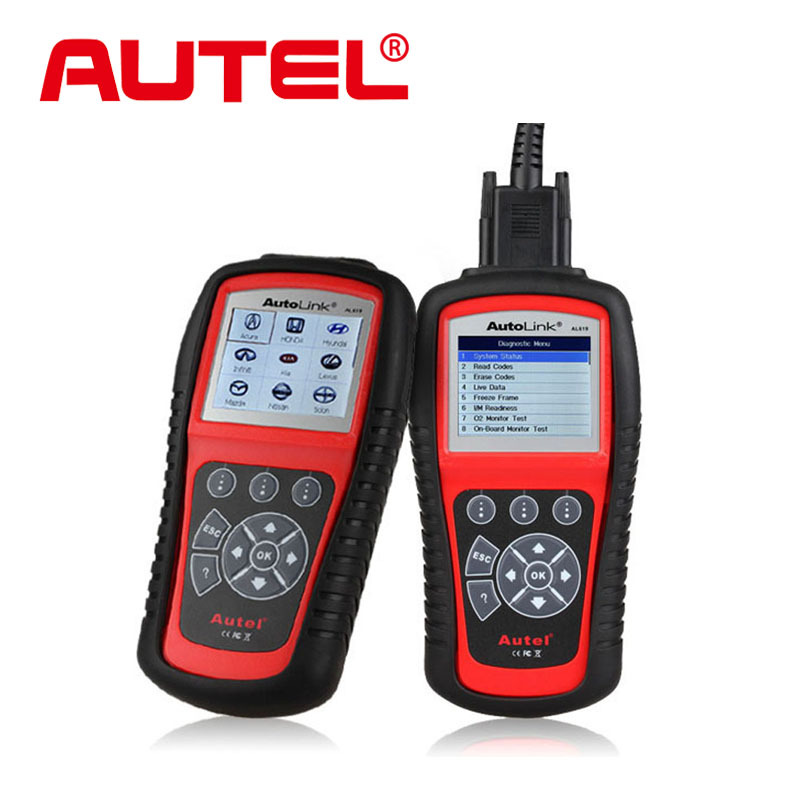 Original Autel AutoLink AL619 OBDII CAN ABS & SRS Diagnositc Scan Tool Diagnoses and erases ABS/SRS codes free online uddate(China (Mainland))
