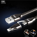 LED Light USB Cable for iphone 6 5 Samsung Xiaomi Micro USB 8pin 2in1 Data Charger