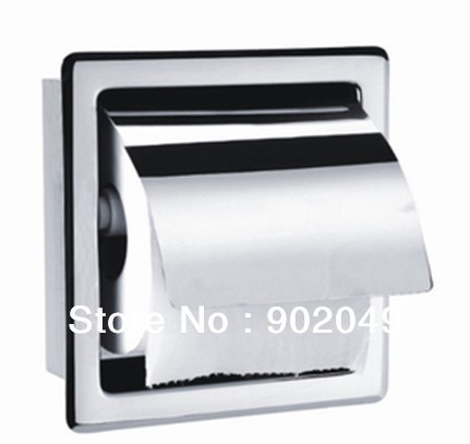 Stainless Steel Bathroom Paper Holder Wall Mounted Bath Accessories Shower Room Toilet Tissue Holder Discount KL-K15A