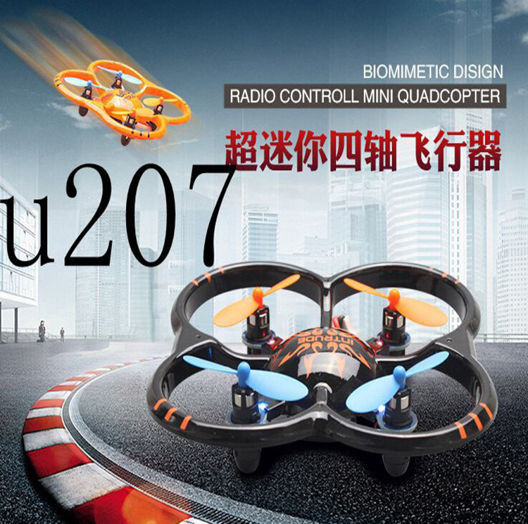 hot sale High Quality UDI-U207 RC Plane 6 Axis Gyro 4CH RC Helicopter mini Quad Copter with LED Lights RC Toys(China (Mainland))