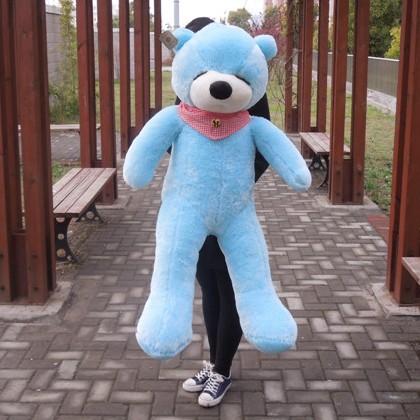 "47"" Blue Color 1.2M Giant Size Plush Sleepy Teddy Bear Toy Doll Bear Gift New Arrived Sleepy Teddy Bear Plush Toy Factory Supply(China (Mainland))"