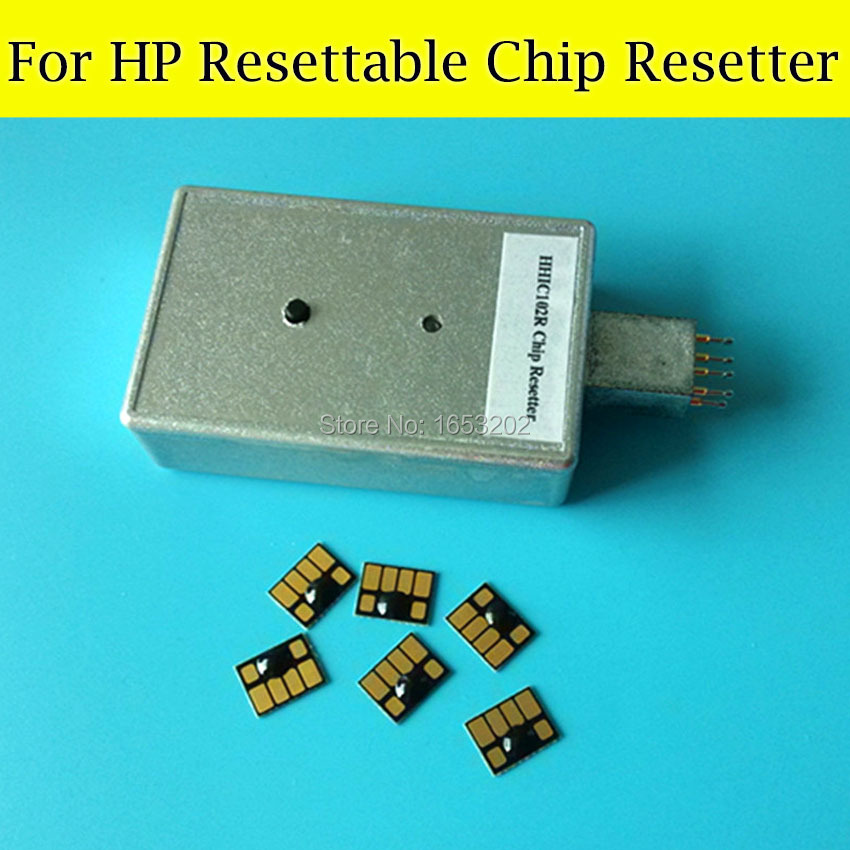 1 PC Chip Resetter With 6 PCS Resettable Chip For HP 83 Cartridge Use For HP 5000 5000pc Printer