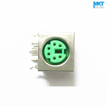 Buy 10Pcs Green Female 6 Pins PS/2 PS 2 PCB Socket Jack Connector for $1.40 in AliExpress store